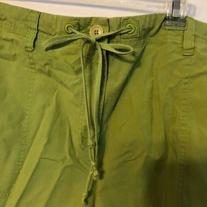 Talbots lime green shorts size 14 stretch